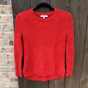Madewell Red Holcomb Textured Knit Sweater XS